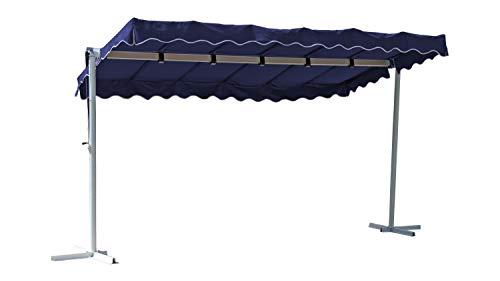 GRASEKAMP Qualität seit 1972 Stand Markise 3,75x2,25m Terrassenüberdachung Dubai Blau