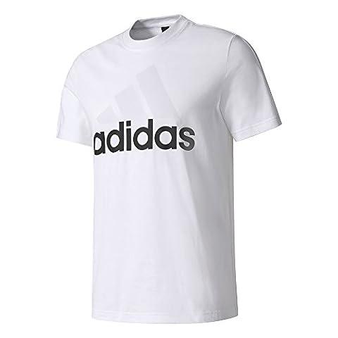 adidas ESS liner Tee for Man, White (White), S