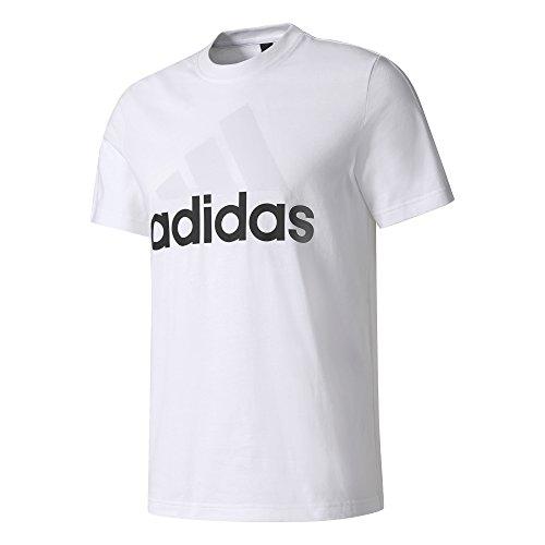 Adidas ess linear tee, t-shirt uomo, bianco (bianco), l