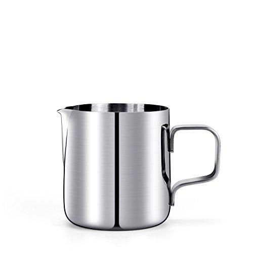 HULISEN Mini Milchkännchen, Edelstahl Milk Pitcher 150ml / 5 fl.oz. Craft Kaffee Latte Milch...