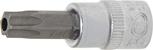 BGS 2363 Douille à embouts Tamper-Torx TT40, Argent/gris