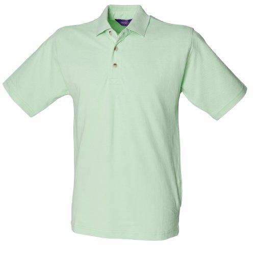 Henbury Herren Polo-Shirt, unifarben Apfelgrün