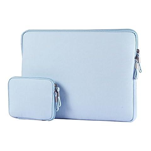 YiJee Laptop Sleeve, Water Repellent Cover Case Sac pour Ordinateur Portable 13.3 Pouse Bleu Clair
