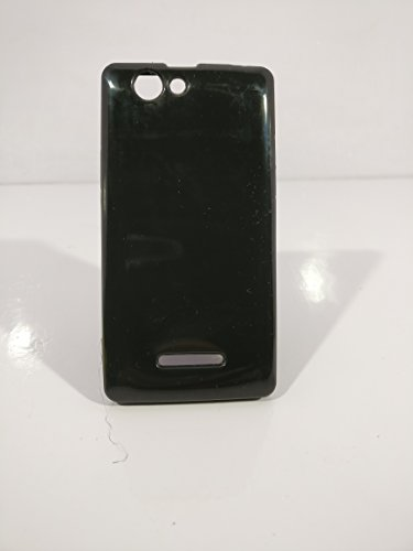 iCandy™ Colorfull Thin Soft TPU Back Cover For Xolo A500S - Black  available at amazon for Rs.109