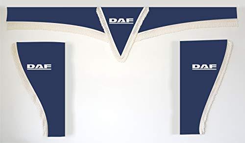Juego de 3 Cortinas Azules con Cuerdas Blancas, tamaño Universal, para Camiones, Todos los Modelos, Accesorios, decoración, Tela de Felpa