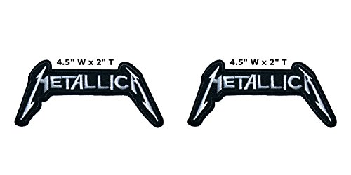 Outlander Outdoor Marke Anwendung Classic Rock Metallica Band Musik Cosplay Badge gesticktes Eisen oder aufgesetzte Aufnäher Patch 2er Pack Geschenk-Set