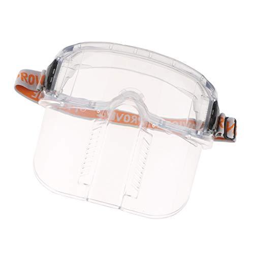 MagiDeal Vollgesichts Sicherheits klare Masken Visier Glas Schirm bequem Anti-Säure und Alkali Gesichtsmaske