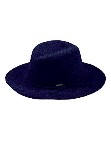 CAPO Damen Fedora Lisabon Hat, Blau (Marine 18), Medium (Herstellergröße: 58) (Marine-blau-filz-hut)