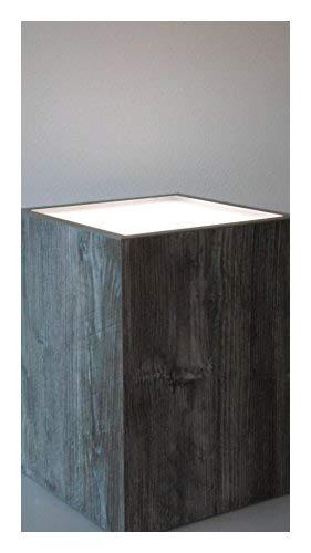 Hermesmöbel Table de Fleur Tabouret avec éclairage Effet Fluo Design Table d'appoint Tabouret Jackson Pin L 30 x l 30 x H 40 cm