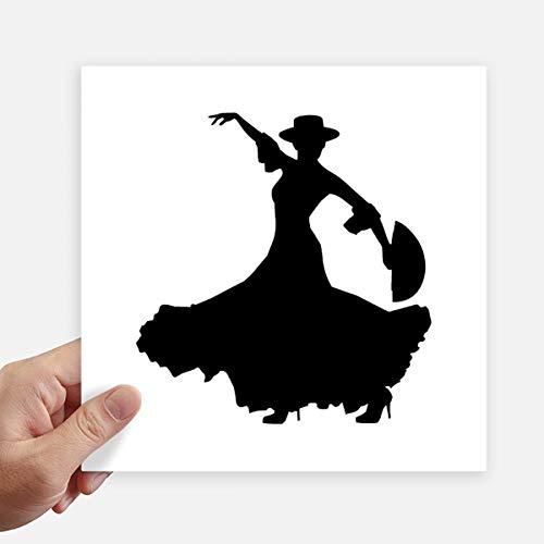 DIYthinker Ventilador Funcionamiento del Baile del bailarín de la Plaza Pegatinas Pared de 20 cm Maleta...