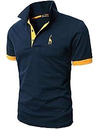 725b0c06c143d GHYUGR Polos Manga Corta Hombre Bordado de Ciervo Camisas Slim Fit Camiseta  Deporte Golf Poloshirt Verano