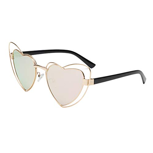 Makefortune Frauen Sonnenbrillen, Frauen Retro Fashion Heart-shaped Shades Damen Sonnenbrille Integrierte UV-Brille