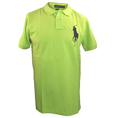 Ralph Lauren Polo Herren Poloshirt Ultra Lime Big Pony Größe M -