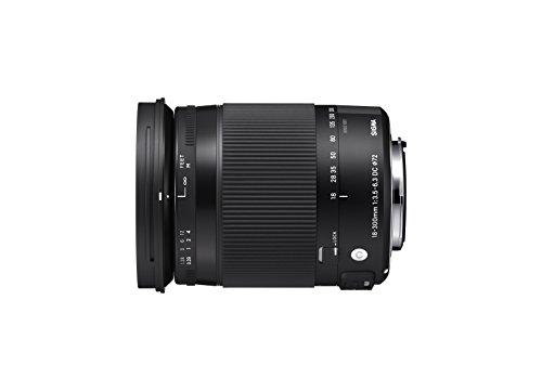 Sigma Obiettivo 18-300mm-f/3.5-6.3 Af Dc Macro Os Hsm (c), Attacco Canon, Nero - sigma - ebay.it