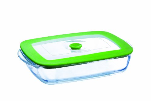 Pyrex 4936901 Dish 4 in 1 Rectangular 23 x 15 x 4.5 cm / 0.75 l Glass / Plastic with Steaming Lid