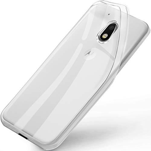 ONEFLOW Lenovo Moto G4 Play | Hülle Silikon Transparent Frosted Back-Cover Stoßfeste Schutzhülle Clear Handy-Hülle für Motorola Moto G4 Play Case Dünn Silikonhülle Tasche