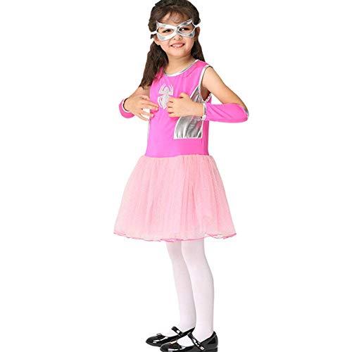 Mädchen Kostüm Niedlichen Weihnachts - AIYA Mädchen kleiden Kostüm niedlichen Halloween Cosplay Spider Man Kleidung Leistung Kleidung Anzug