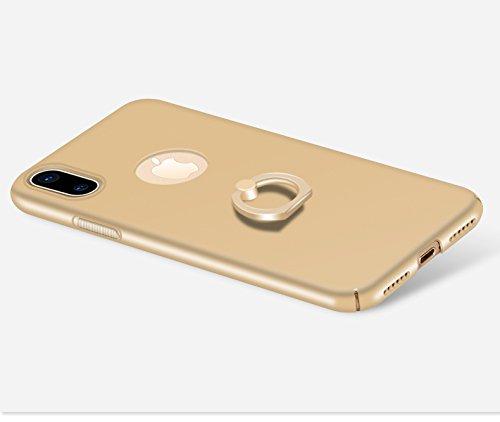 Meimeiwu Alta Qualità Ultra Sottile Leggera [Morbido tocco] Antiscivolo Duro PC Shell Slim Custodia Per iPhone X - Oro Oro