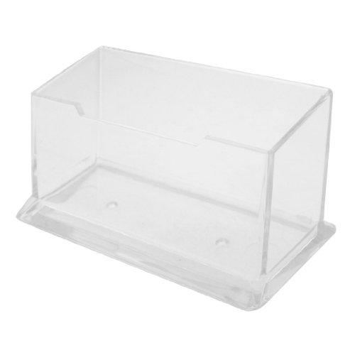 Uxcell Visitenkartenhalter/Displayständer aus Kunststoff, transparent