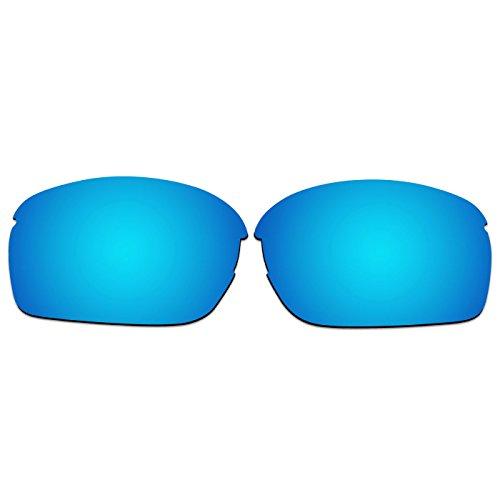ACOMPATIBLE Ersatz Linsen für Oakley RPM quadratisch oo9205Sonnenbrille, Ice Blue Mirror - Polarized, S