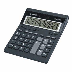Olympia Tischrechner LCD-612 SD 12-stellig Batterie/Solar-Betrieb schwarz