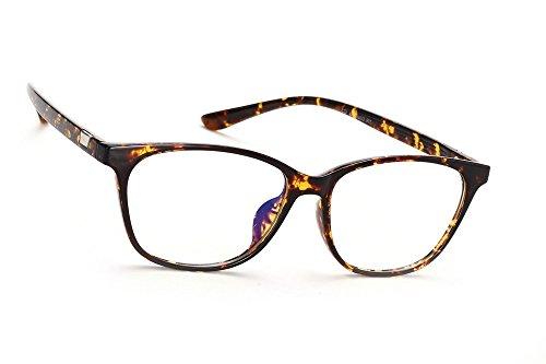 MFAZ Morefaz Ltd Damen Herren Blaulichtfilter Brille Blendschutz, Anti, Kratzfestes Objektiv Computer TV Anti Glare Glasses (Panther T8002)