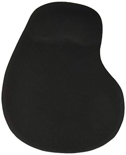 GIM Mauspad mit Handgelenkstütze, ergonomisches Silikongel-Handgelenk, rutschfeste Gummiunterseite, Schwarz