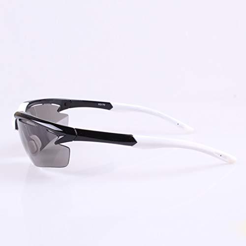 Yiph-Sunglass Sonnenbrillen Mode Einfache Coole polarisierte Linse Unisex-Sport-Sonnenbrille Radfahren Baseball Laufen Angeln Golf Klettern. (Farbe : Schwarz)