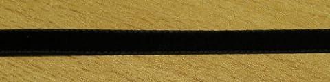 3 m Samtband 7 mm schwarz