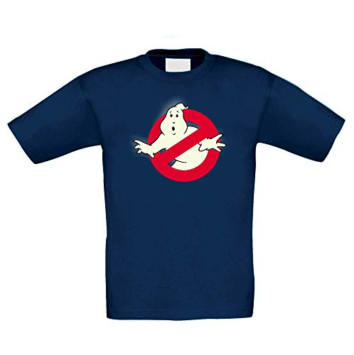 (Shirtdepartment - Kinder T-Shirt - Glow - Ghost Busters dunkelblau-Glow 110-116)