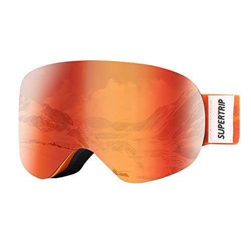 Supertrip Skibrille Kinder Snowboardbrille Kinderskibrille Verspiegelt Doppel-Objektiv...