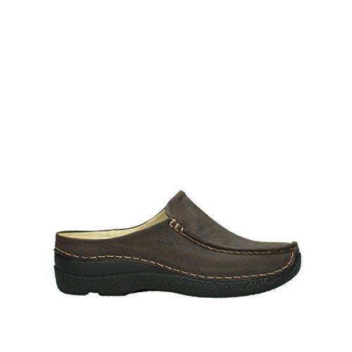 Wolky Comfort Clogs Seamy Slide - 11332 mocca Nubuk - 40 (Comfort-clogs Nubuk)