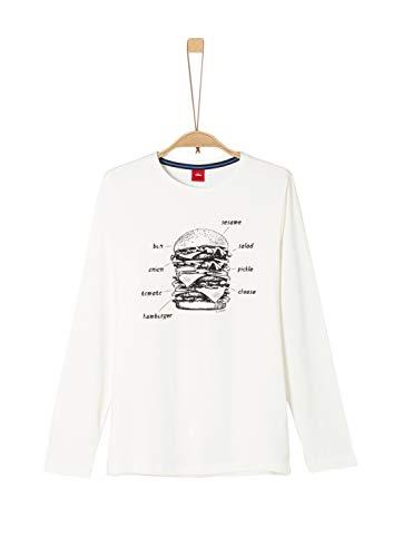 s.Oliver Jungen 61.909.31.8924 T-Shirt, Elfenbein (Ecru 0210), 140 (Herstellergröße: S/REG)