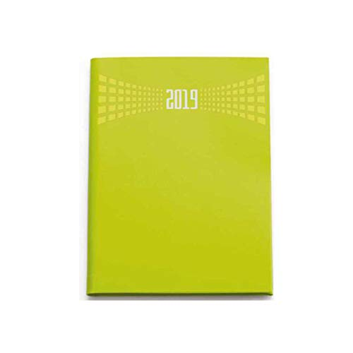Agenda 2019 bigiornaliera 7x10 cm tascabile copertina matra' 2 giorni per pagina (Giallo)