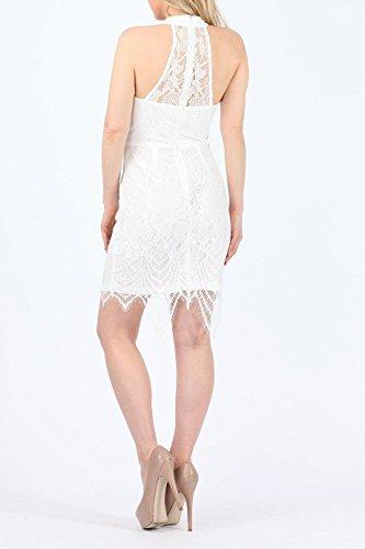 Damen Spitze Neckholder , figurbetontes Kleid EUR Größe 36-42 Elfenbein