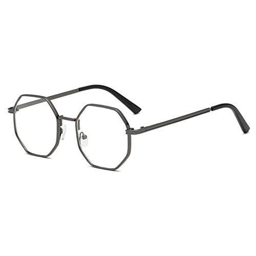 Y-PLAND Brille polygonale Brille Rahmen dicke Seite klassische Brille Rahmen retro Mode flachen Spiegel, Pistole Farbfeld
