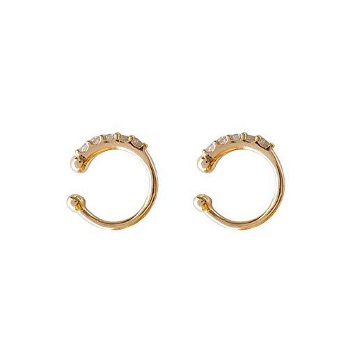 JJLEZl Exquisite Zirkonium Bohrer Ohr Knochen Clip Einstellbar Kaltlicht Ohrclip Design Sense Ohrringe