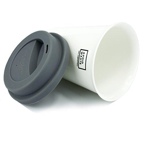 avoid waste - ECO Kaffeebecher to go, kompostierbar. Becher to go aus pflanzlichem Material (PLA). BPA frei und umweltfreundlich. - 4