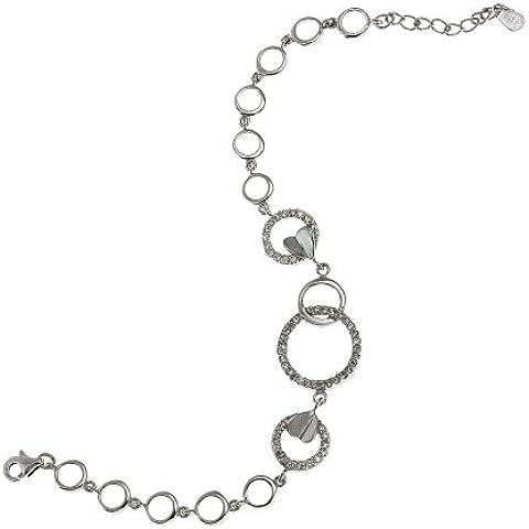 Collegamento contemporaneo leggero bracciale catena argento