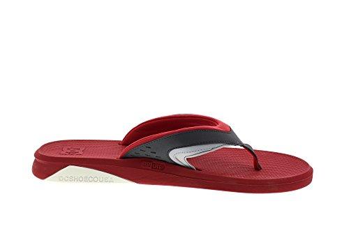 DC Herren Sandalen Recoil Sandals rot - Rouge - Red/Grey
