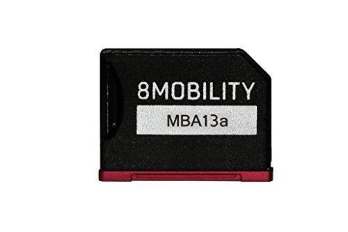 8Mobility iSlice Alluminio Micro SD Adattatore di per MacBook Air 13' A1369 e A1466, Colore Rosso