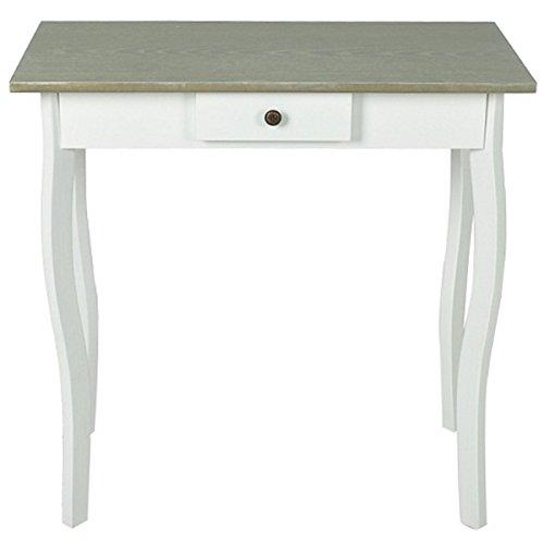 Vidaxl tavolo consolle in mdf stile rustico bianco tavolino laterale ingresso