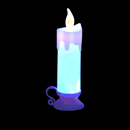 3pcs Magic Changing Color Flameless Vintage Taper Candle For Home Christmas Party Decor by ZN