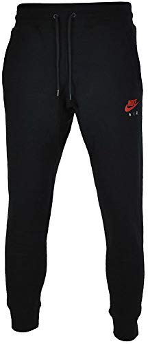 Nike Herren Trainingshose Air Heritage Fleece Cuffed Hose Schwarz - L -
