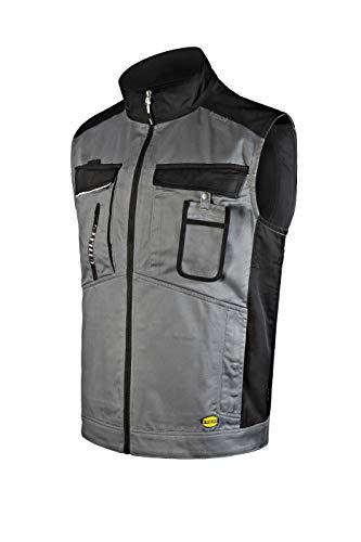 Diadora-Utility Vest EASYWORK Light ISO 13688:2013, Gilet Multipockets in Twill, regolabile in vita, Porta Badge, dettagli rifrangenti, Tasche mani zippate, Tasche interne. -