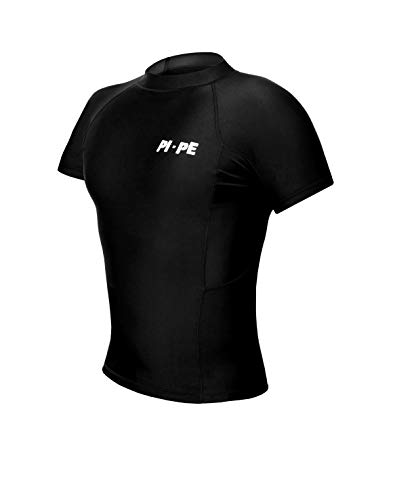 PI-PE Rash Guard Herren S/S Short Sleeve Black XXXL