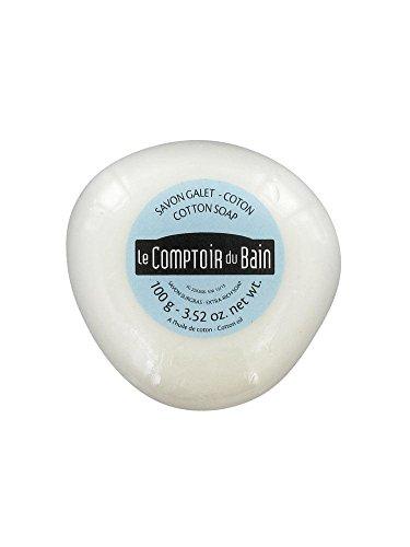 Le Comptoir du Bain Savon Galet Surgras Coton 100 g