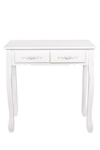 Konsole Tisch Beistelltisch Konsolentisch weiß Rose *411