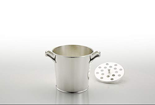 Silver plated ICE BUCKET Cardinale style - art. 5042018 - Lan. 13 cm - Bre. 13 cm - Hoh. 12 cm - Ø13 cm - SWEET HOME by Varotto & Co. Silver Plated Ice Bucket