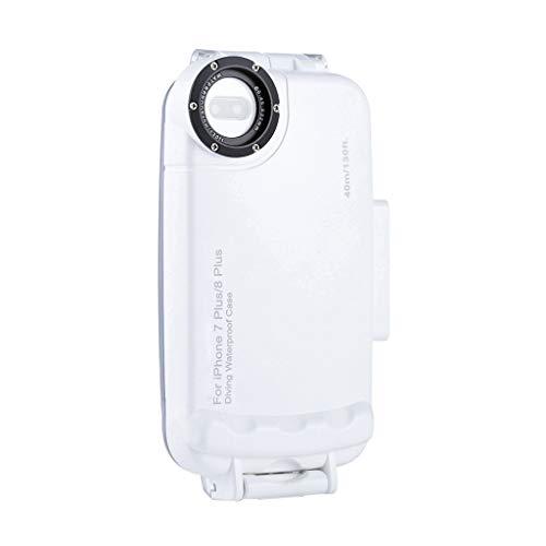 Siswong Unterwassergehäuse Professioneller 40m Tauchkoffer mit Lanyard für IPhone7 8 Plus Professionelle Tauchen Explosionsgeschützte Handyhülle